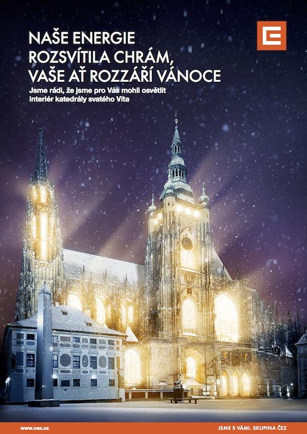 Osvětlení katedrály na Pražském hradě