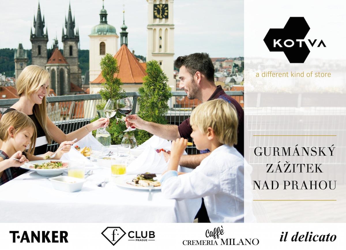 Gurmánský zážitek nad Prahou