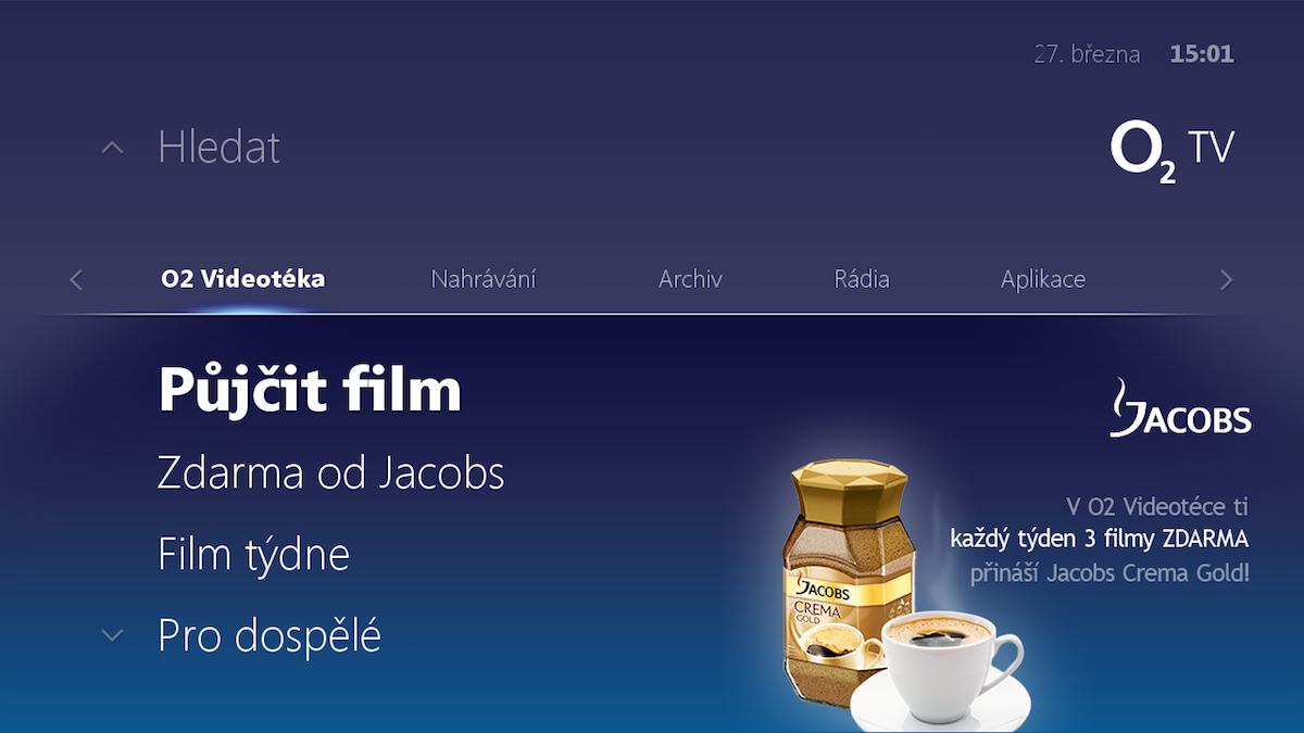 První reklama v O2 TV