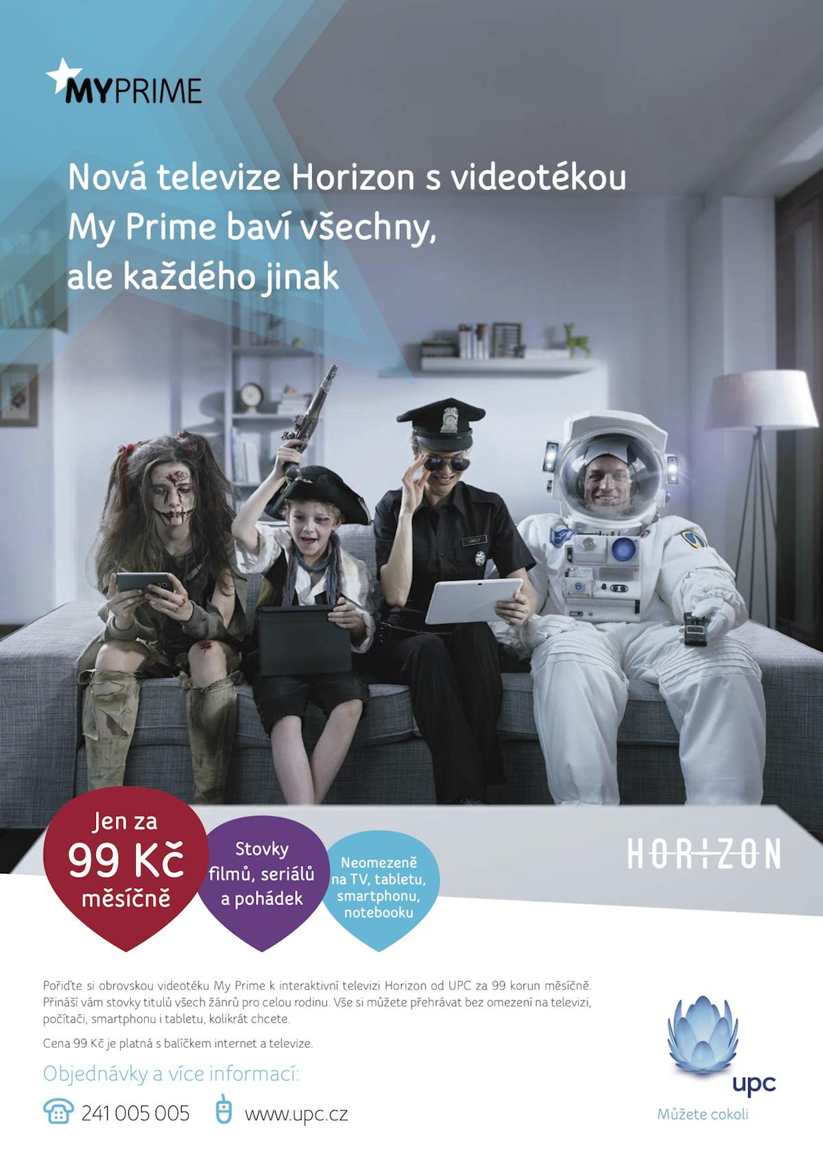 Interaktivní televize Horizon s videotékou My Prime