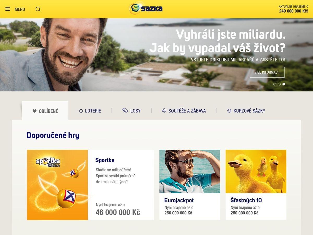 Sazka.cz mění kabát