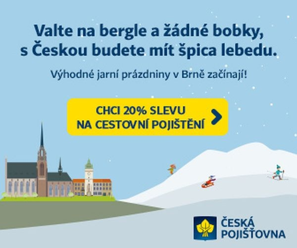 Vodjeďte na bergle s cestovkem vod Českej