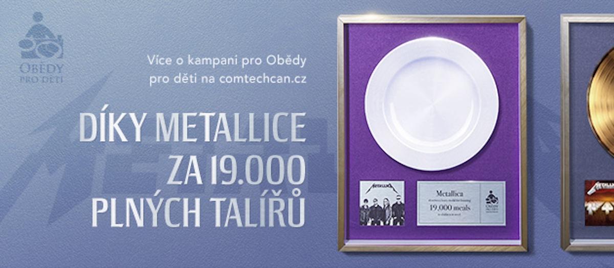 Metallica podpořila Obědy pro děti